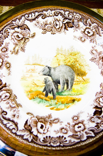 Spode Woodland Bear Plates (In sets of 6)