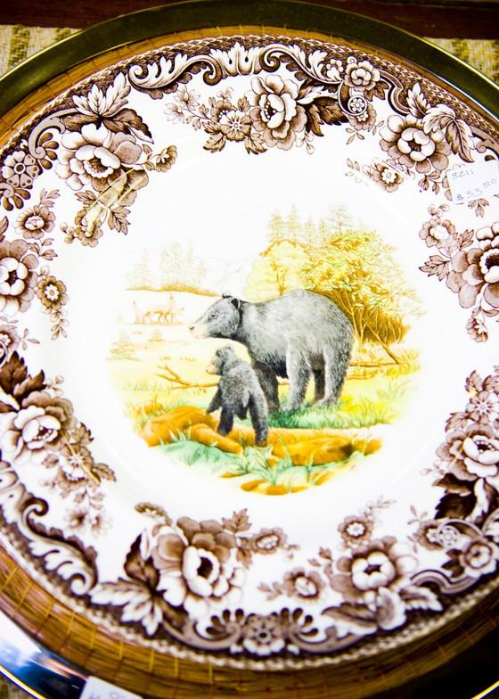 """Spode Woodland Bear Dinner Plate 10.5"""" diameter Ships in sets of 6"""