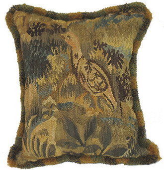 Jake Hand-Spun Aubusson Toss Pillow