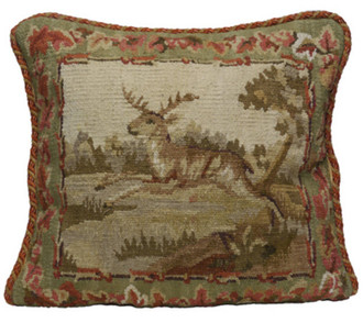 Leaping Stag Aubusson Pillow