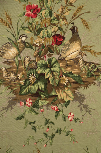 Edwin's Covey Woodland Fabric in Willow (Scalamandre)