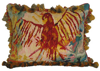 Eagle Cave Art Aubusson Pillow
