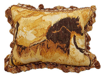 Horse Cave Art Aubusson Pillow