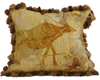 Elk Cave Art Aubusson Pillow