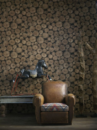 Lumberjack Wallpaper in Timber (By Andrew Martin in England)