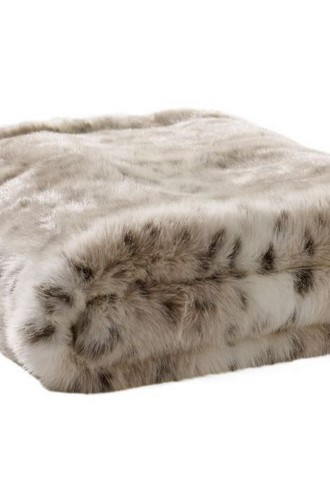 Portia Faux Fur Throw (Cashmere-backed)
