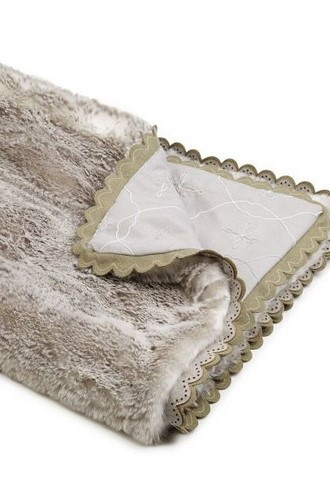 Dirndl Faux Fur Throw from Barbara Barry Chalet Collection