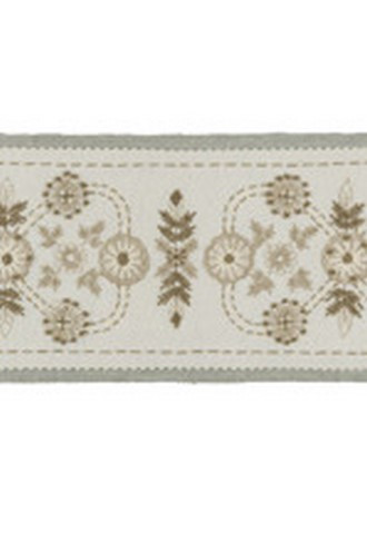 Chalet Border/Trim from Barbara Barry Chalet Collection in Snow Drift