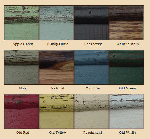 Select from any of these paint and stain choices.