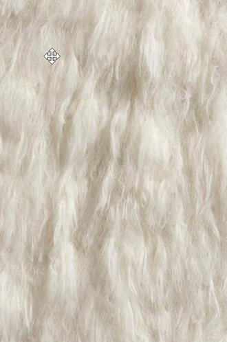 Ibex Faux Fur Fabric in Beige (Casamance)