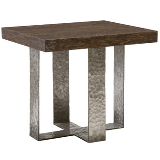 Augustine Oak & Hand-Forged Iron Table (Many finishes available)