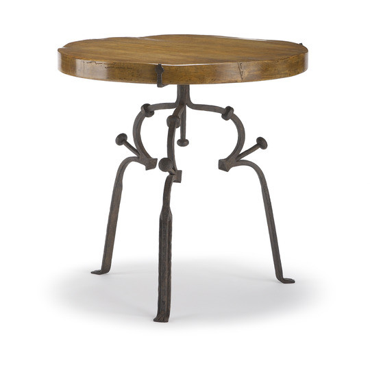 Worn Aged Iron Base with Lightly Waxed Dry Aged Walnut Top