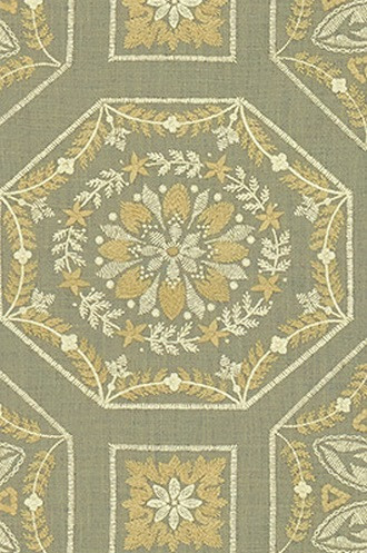 Alpenrose Fabric in Silver Grey (Barbara Barry Chalet Collection)