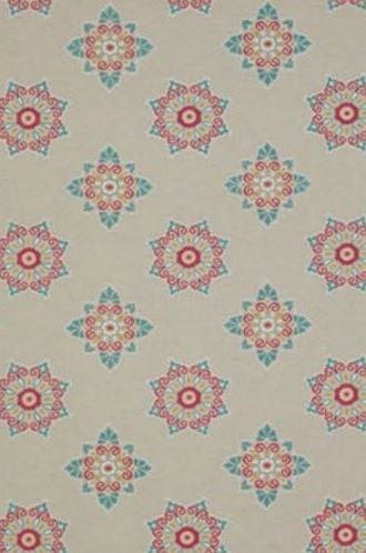 Ballos Embroidered Snowflake Fabric in Multi (Jane Churchill)