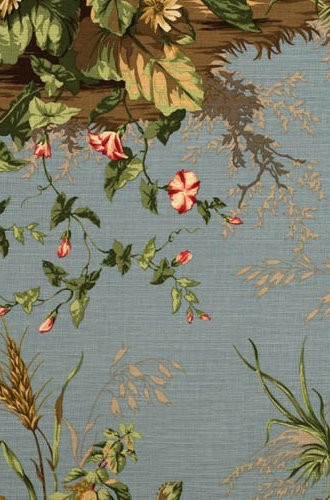 Edwin's Covey Woodland Fabric in London Blue (Scalamandre)