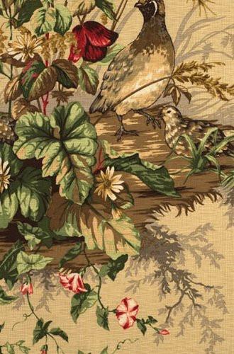 Edwin's Covey Woodland Fabric in Sisal (Scalamandre)