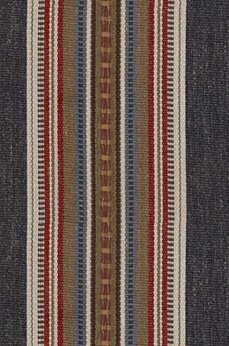 Rustic Fabric For Cabins Vertical Stripes In Indigo