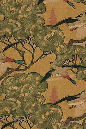 Flying Ducks Fabric in Sand (By Mulberry Home in England)