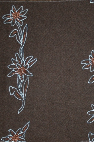Old World Weavers Blandine Fabric in Chocolate