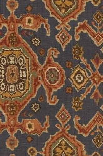 Perseus Fabric in Blue (Eric Cohler Lodge Collection)
