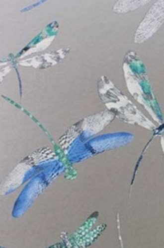 Dragonfly Dance Wallpaper in Denim (Osborne & Little)