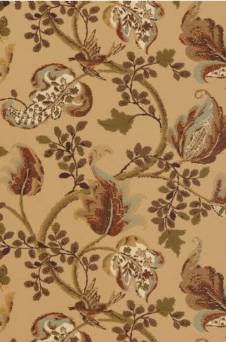 Fox Hollow Wallpaper in Honey on Smoke (Schumacher)