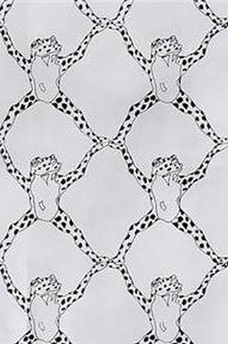 Frog Treillage on Vinyl Wallpaper in Black and White (Brunschwig & Fils)