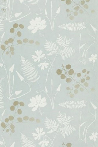 Modern Botanical Wallpaper in Slate (Schumacher)