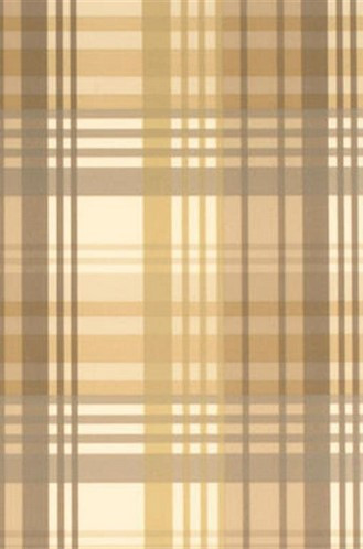 Modern Tartan Flock Wallpaper in Coffee/Cream (By Mulberry Home in England)