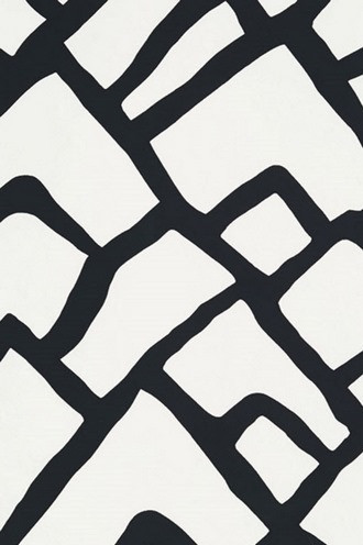 Zimba ZigZag Wallpaper in Ebony (Schumacher)