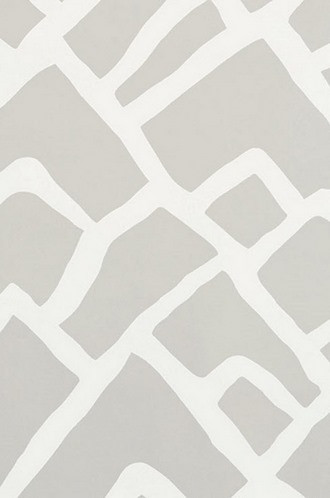 Zimba ZigZag Wallpaper in Fog (Schumacher)