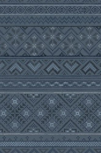 Fair Isle Wallpaper in Fjord (Quercus & Co.)