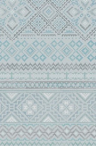 Fair Isle Wallpaper in Icelandic Blue (Quercus & Co.)
