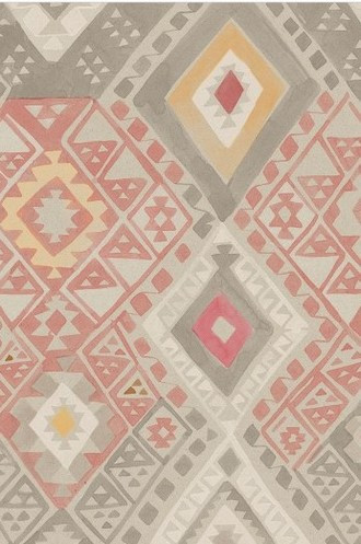 Kilim Geometric Wallpaper in Caravan (Quercus & Co.)