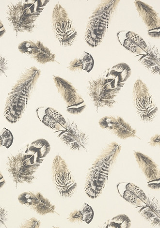 Feathers Wallpaper in Pearl (Thibaut)