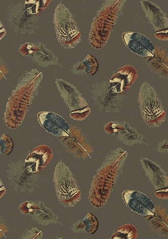 Feathers Wallpaper in Charcoal (Thibaut)