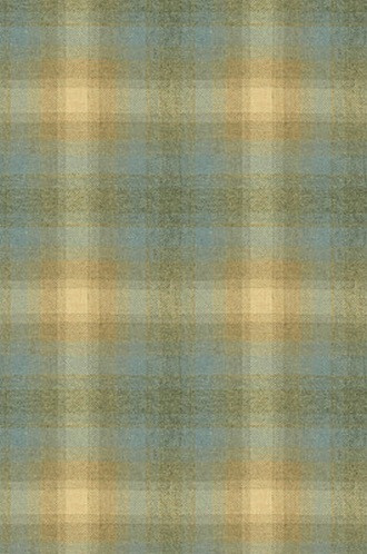 Toboggan Plaid Fabric in Silver Blue (Barbara Barry Chalet Collection)
