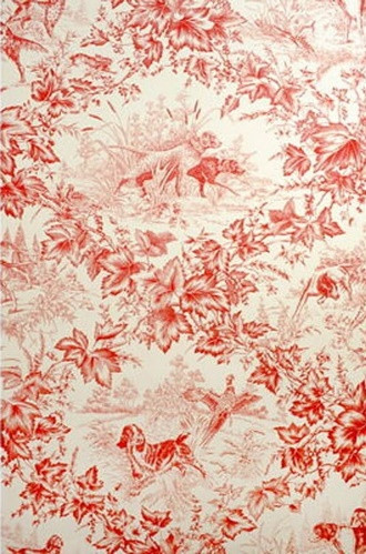 On-Point Hunting Dog Wallpaper in Red