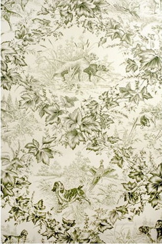 On-Point Hunting Dog Wallpaper in Green