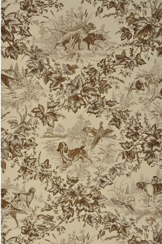 On-Point Hunting Dog Wallpaper in Tobacco