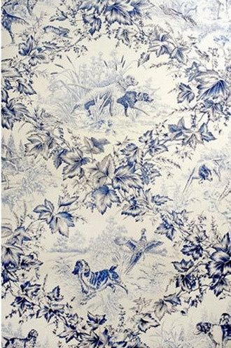 On-Point Hunting Dog Wallpaper in Blue
