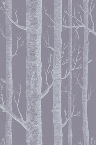 Woods Wallpaper in Ivory & Lilac