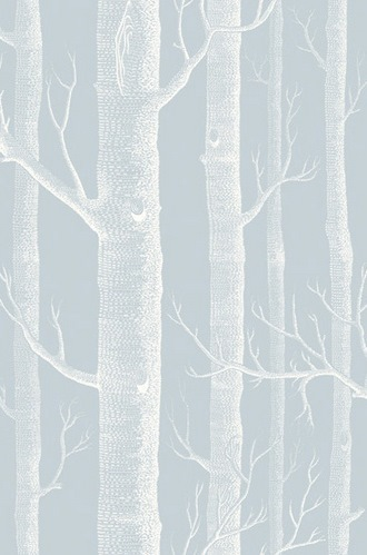 Woods Wallpaper in Powder Blue