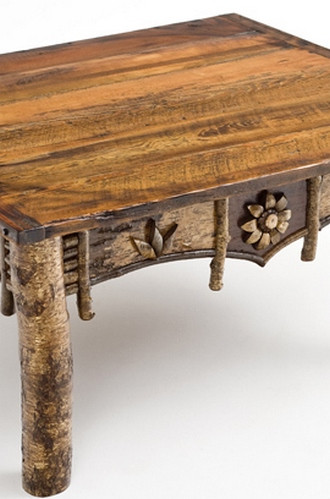 Birch Bark Artisan Coffee Table