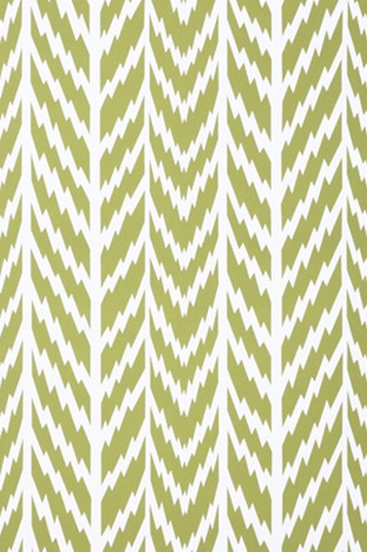Shawnee Wallpaper in Chartreuse on White