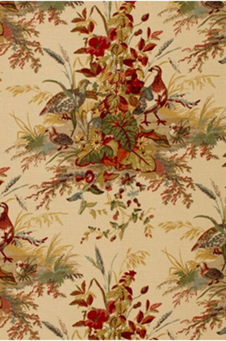 Quail Meadow Fabric in Autumn (Schumacher)