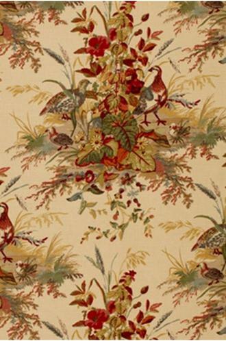 Quail Meadow Fabric in Autumn (Schumacher)