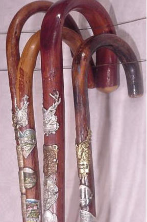 Antique Black Forest Walking Sticks