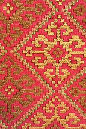 Pierre Frey Anatolie Fabric in Rouge Ancienne