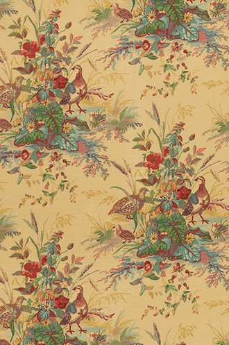 Quail Meadow Fabric in Spring (Schumacher)